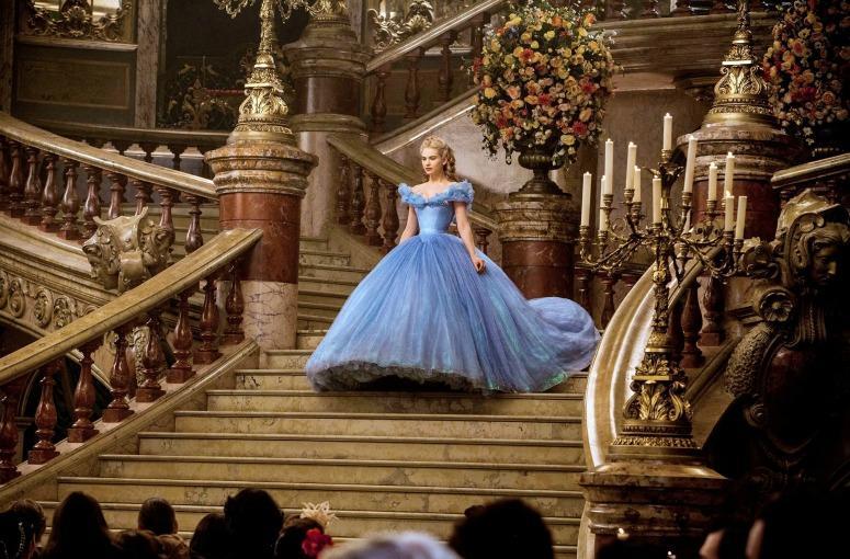 ABOVE: Cinderella stepping into the ballroom. CREDIT: Cinderella (2015)