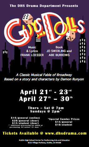"""Guys and Dolls"" Opens on April 21 At DHS Performing Arts Center"