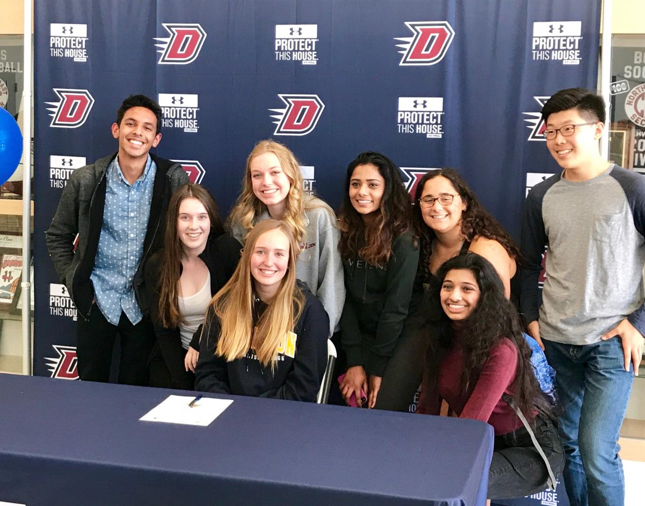 Sarah Grier at her signing day on May 17. She will play DIII college volleyball at Carlton College in Minnesota next year.