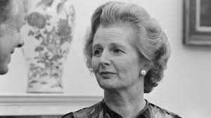 ABOVE: Margaret Thatcher became known as the
