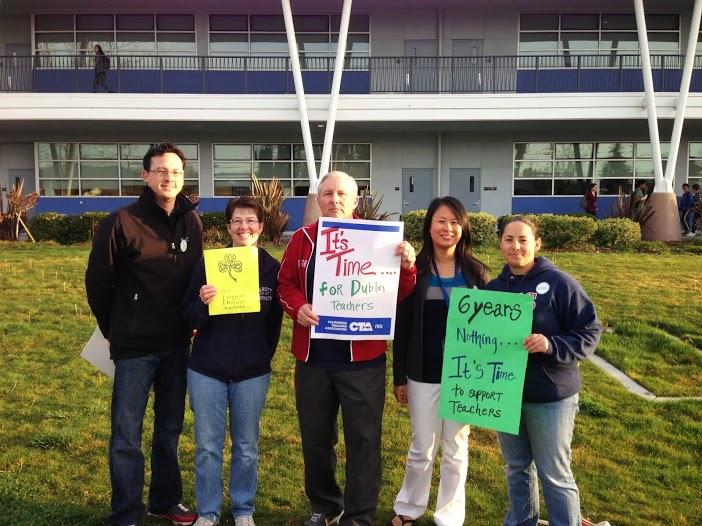 ABOVE: Teachers at Dublin High organized demonstrations as one way to gain support for their cause.