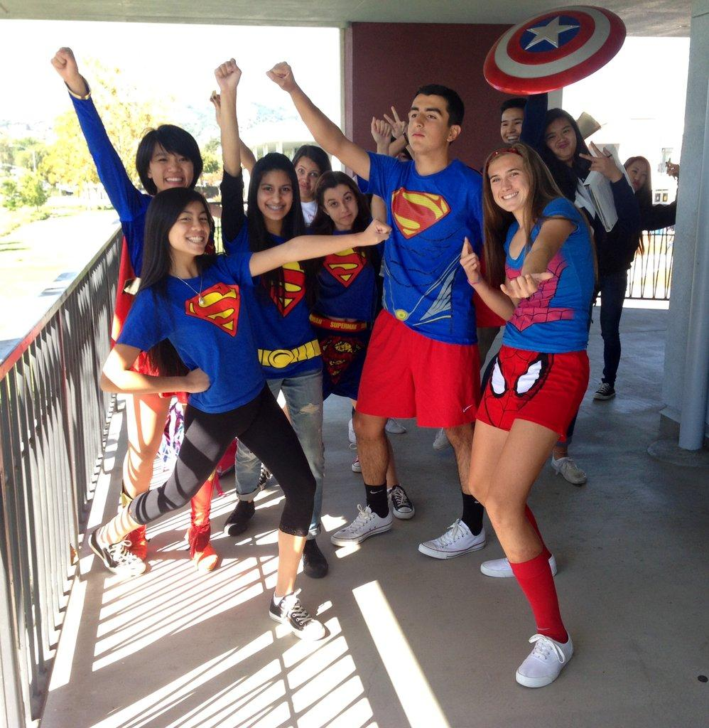 ABOVE: DHS students dressed up for superhero day on Monday, October 7.
