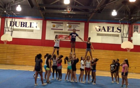 ABOVE: Dublin High's Varsity Competition Team working hard at practice.