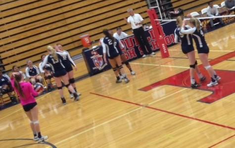 ABOVE: Girls Varsity Volleyball Game on Senior Night.