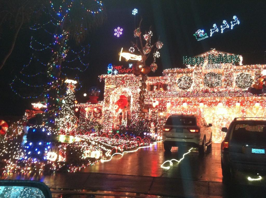 Beautifully decorated house in Livermore all ready for the Christmas season.