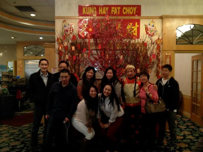 The Zhao family taking a family picture last Chinese New Year.  Credit: Rebecca Wu