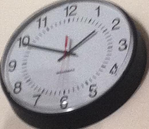 the clock slowly makes its way to 1:48 giving freedom to students.