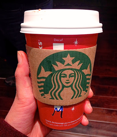 ABOVE: A typical caffeinated drink many students purchase to stay alert and awake in the mornings.