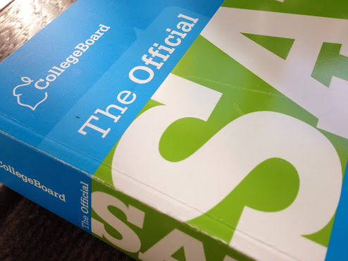 ABOVE: A typical SAT review manual students currently use to study for the test, but which is likely to change one the new test is initiated.