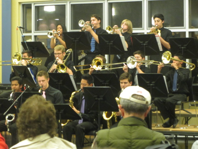 ABOVE:  DHS jazz band playing in the student cafe.