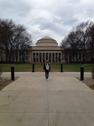 ABOVE: Jennifer Lee visiting MIT.