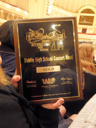 ABOVE: The DHS concert and gold award.