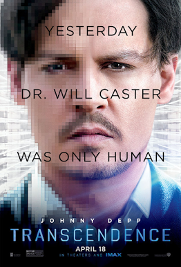 ABOVE: The official Transcendence movie poster.