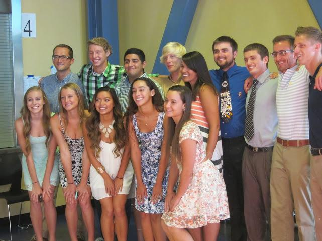 ABOVE%3A+Seniors+and+coaches+at+the+swim+banquet