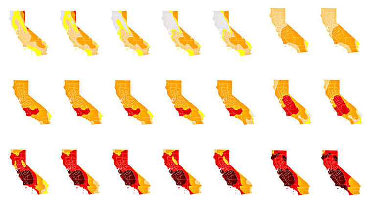 California Drought Maps