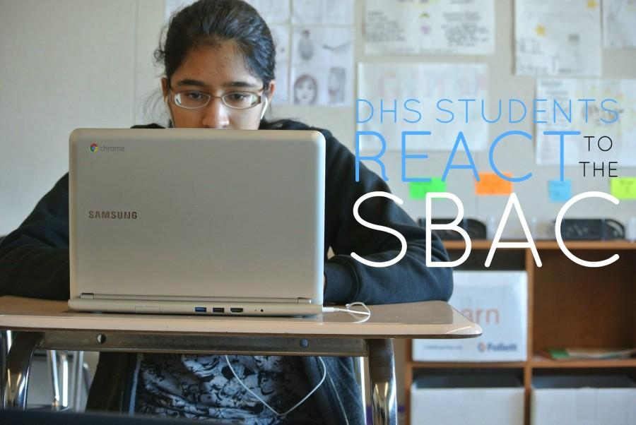 ABOVE: A junior on a Chromebook used for the SBAC.