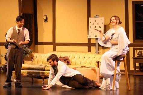 (from left) Liron Day as Leon Tolchinsky, Matthew Glynn (Dr. Zubritsky ), and Savannah Quintero (Lenya Zubritsky)