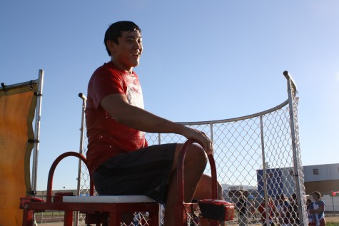 Dublin High senior, Cody Chang, smiling after his first plunge in the dunk tank. He was one of the many active club members who helped fundraise for their organization or group, participating in booths and games.