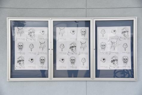 art show fliers designed by AP Studio Art students