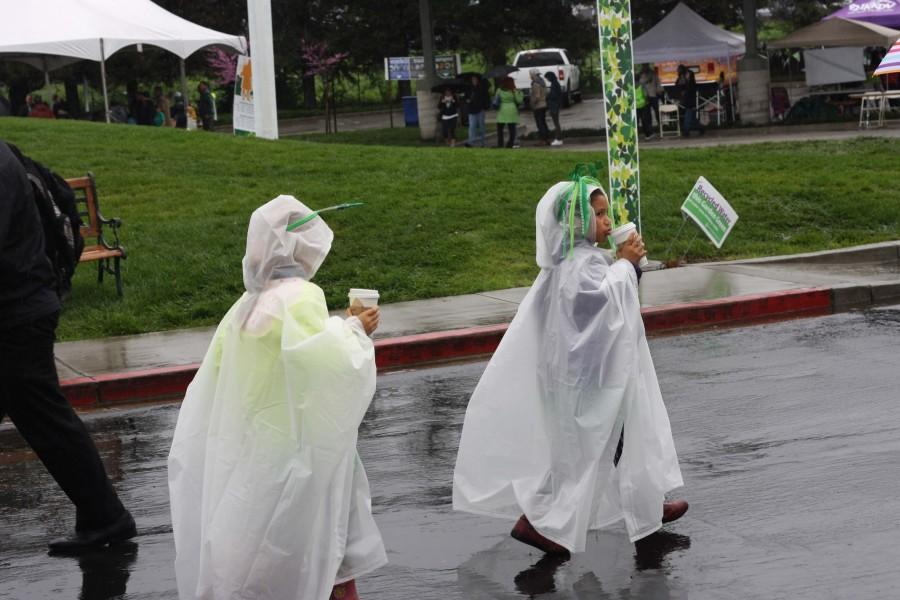 Though the weekend brought heavy rain, fair-goers didn't let it stop them from sporting their St. Patrick's Day attire.