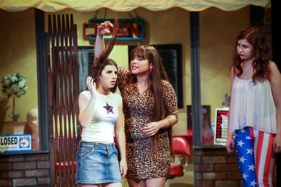 Simone Campos (right) as Danielle in last year's spring musical