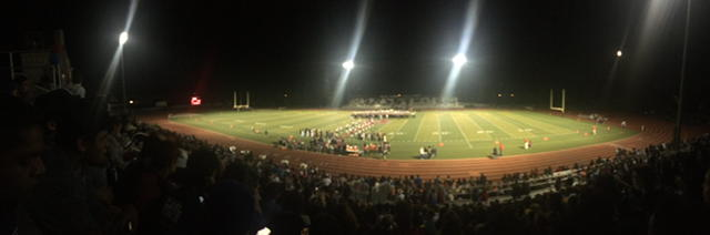 The nominees walk down the aisle during halftime before DHS discovered who was crowned queen.