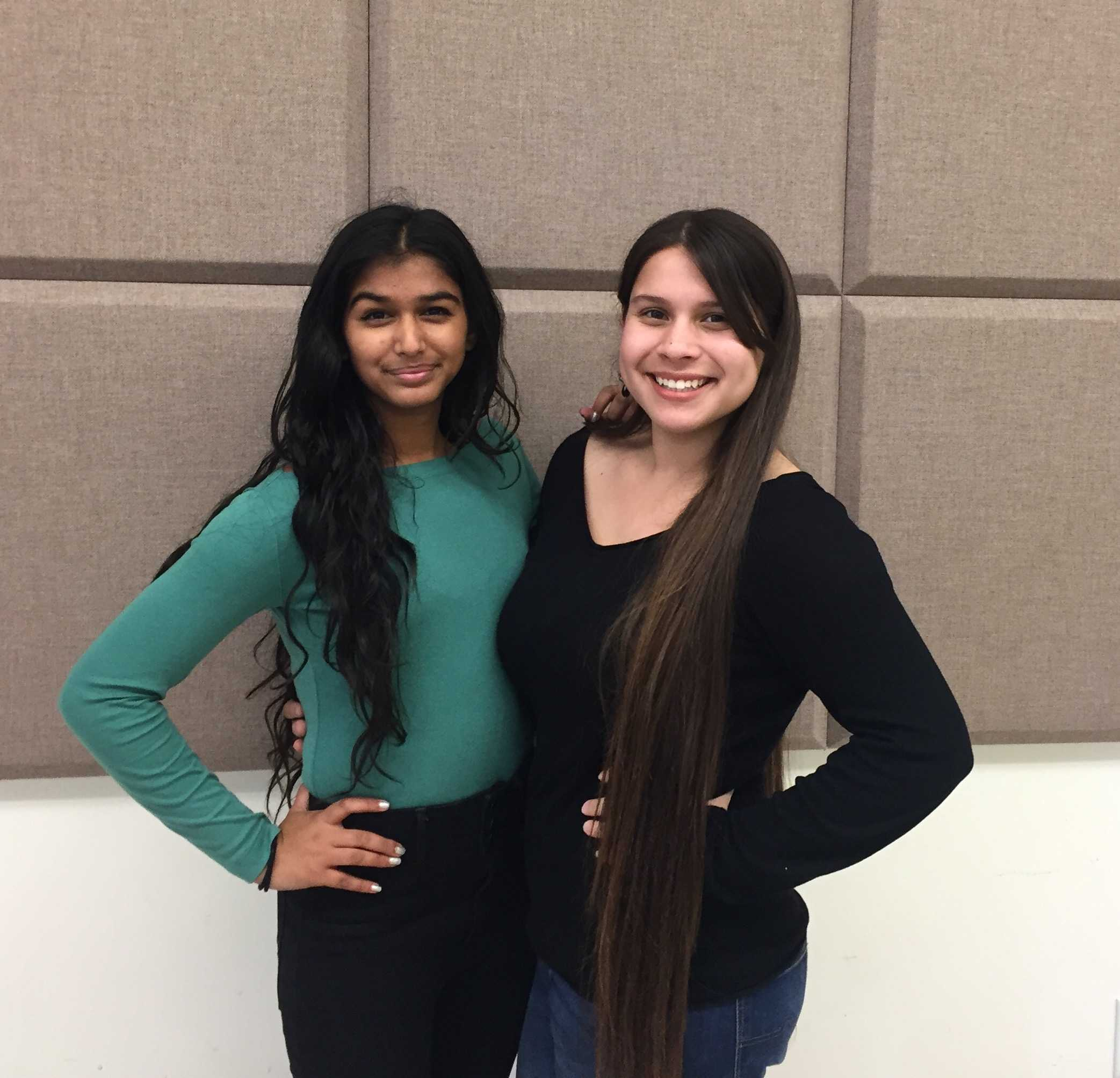 Priyanka Kedia (left) and Simonne Campos (right), both playing Elizabeth Proctor.