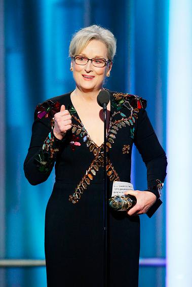Meryl Streep at the 2017 Golden Globes.