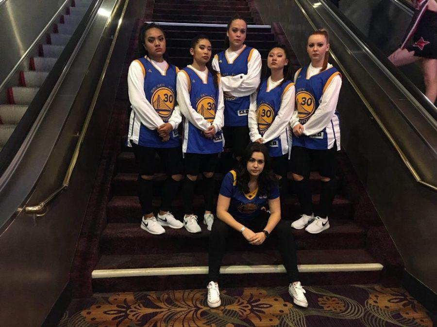 The small group with their coach Katie prior to performing at JAMZ nationals, where they came out as number one.