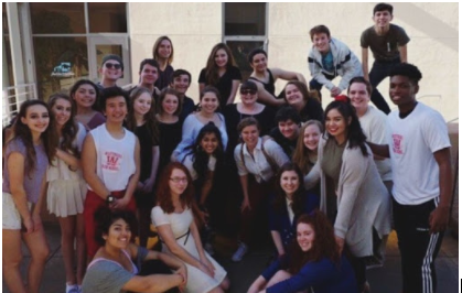 Members of drama department at Ohlone competition.