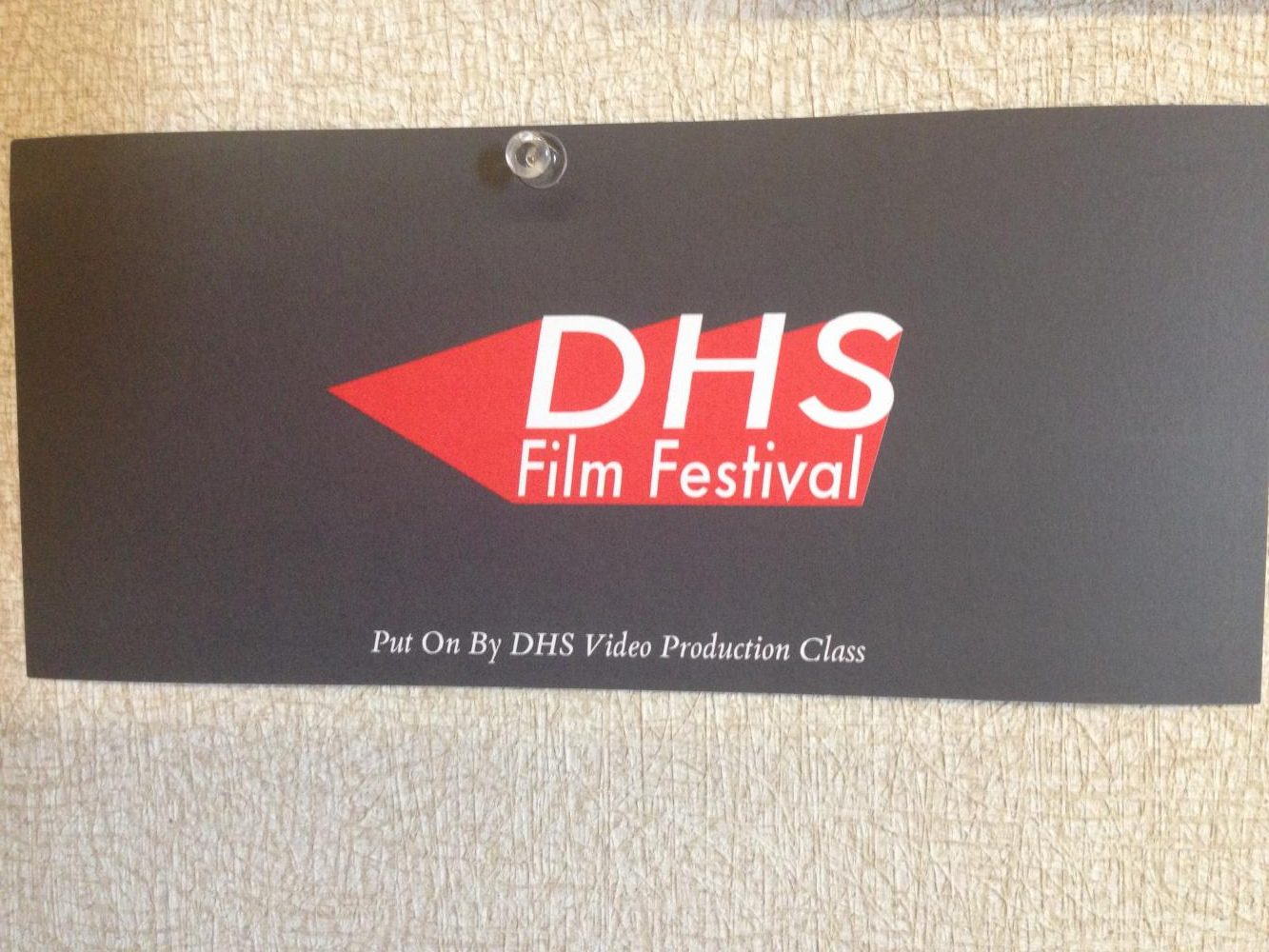 A Film Festival ticket saved from a previous year. Many teachers and students save the tickets as a souvenir.