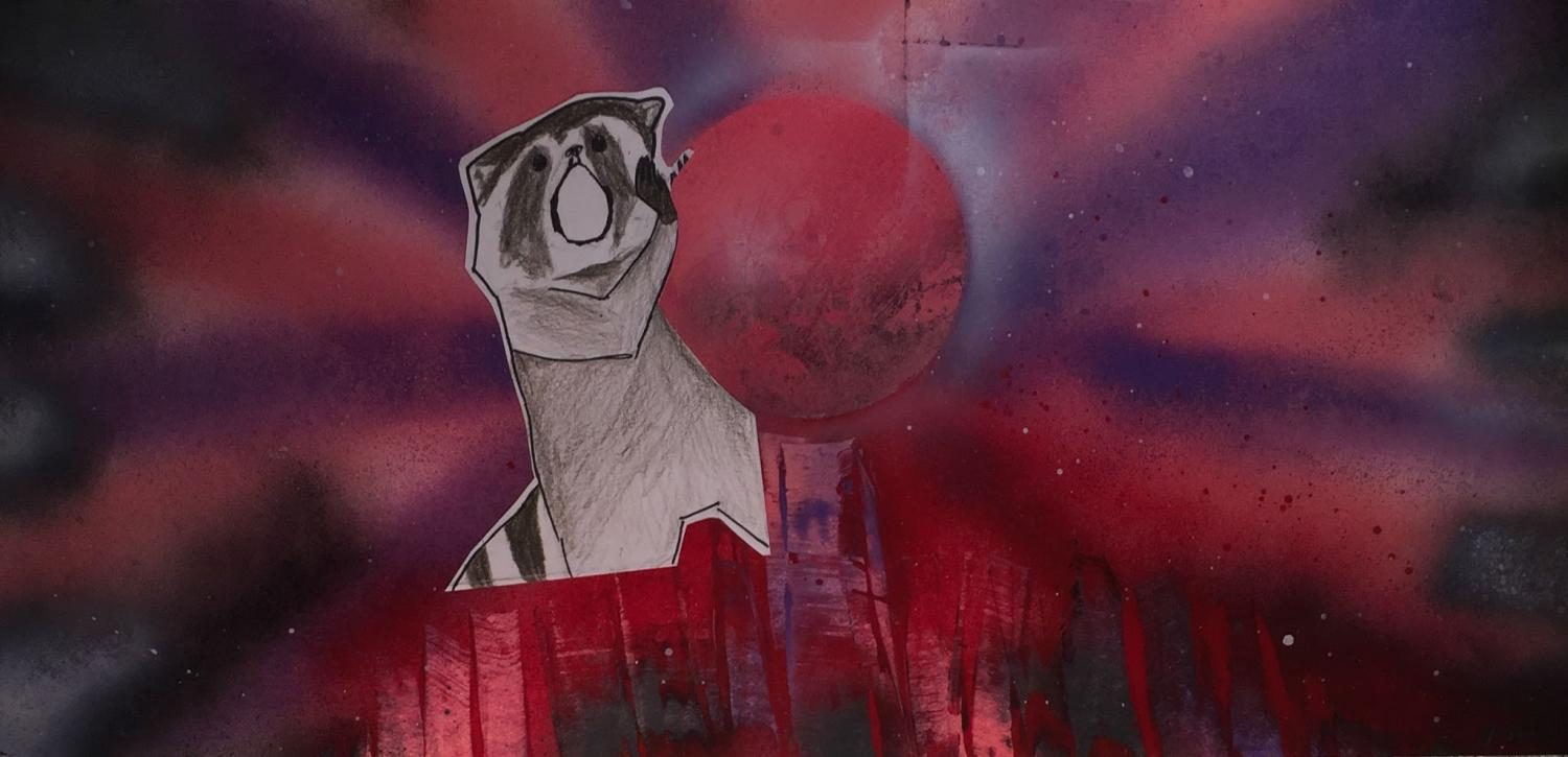 Raccoon and a Planet
