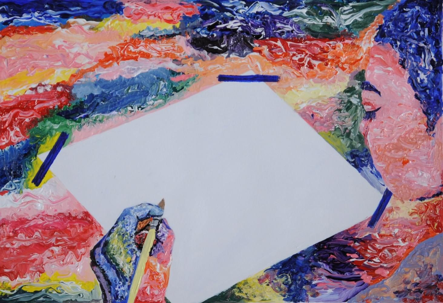 Artist Block  8.5 x 12.5 in Acrylic Paint