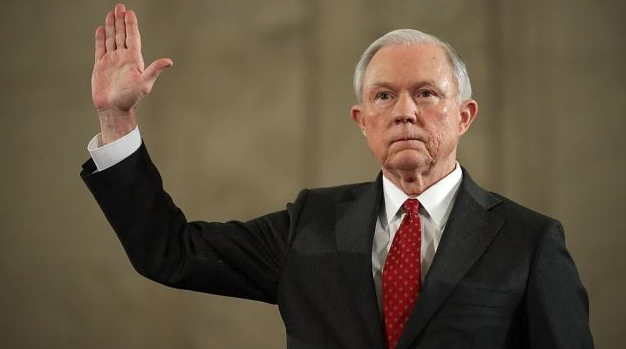 Jeff Sessions refuses to address conversations with the president.