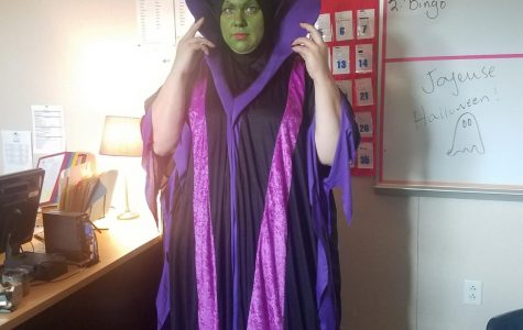 Mrs. Jacob-Bohart as the Wicked Witch of the West.