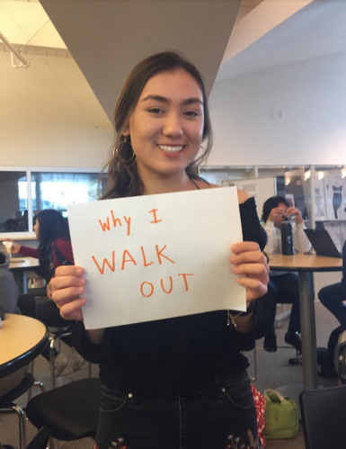 Sophomore Jasmin Kongsberg reaffirms her support for the walkout and explain why she walks out.