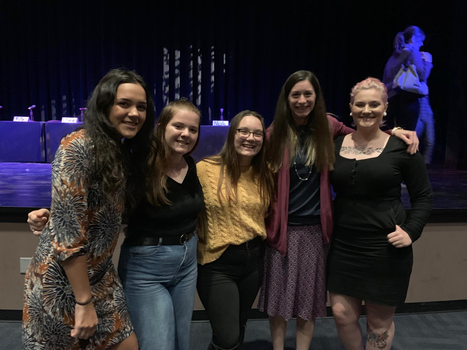 The screening featured a student panel in order to offer audience members a personal perspective on the prevalent mental health issues.