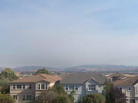 Smoke blankets East Dublin.
