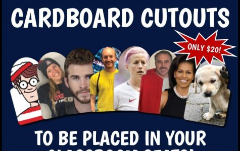 Cardboard cutout sales to benefit local charity