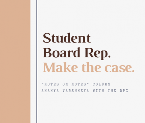 Notes on Notes: Student board representative candidates make their case