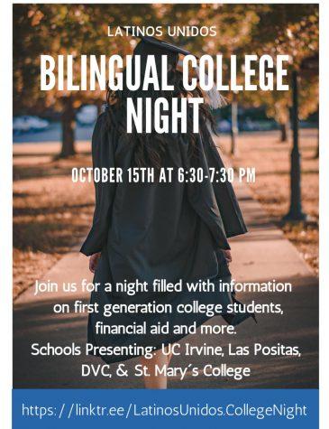Latinos Unidos hosts first Bilingual College Night