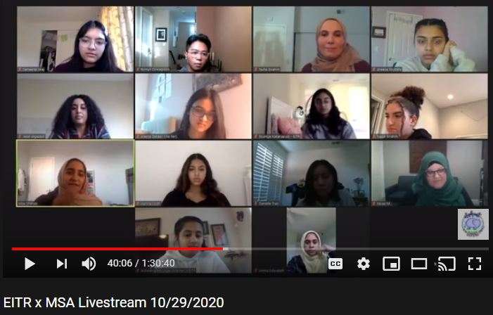 EITR x MSA Livestream: Discussing mental health in the Muslim community
