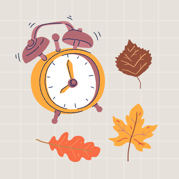 An illustration of back-to-school fall images